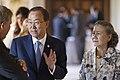 Secretaris-generaal van de Verenigde Naties Ban Ki-moon en zijn echtgenote. (9612841583).jpg