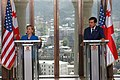 Secretary Clinton and President Saakashvili in Tbilisi, 2010.jpg