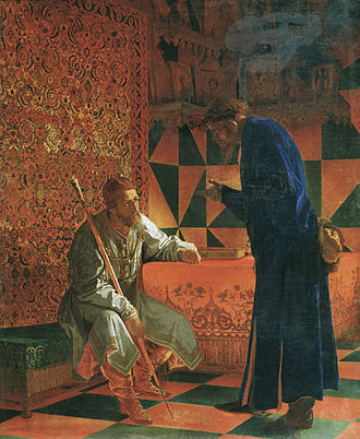 Malyuta Skuratov - «Ivan the Terrible and Maluta Skuratov», by Grigory Sedov.