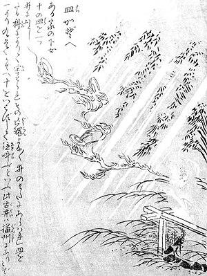 """Onibi - """"Sarakazoe"""" from the """"Konjaku Gazu Zoku Hyakki"""" by Sekien Toriyama"""