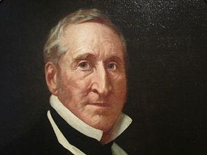 Thomas Hart Benton (politician) - Oil portrait (detail) c. 1861 from the National Portrait Gallery in Washington, D.C.