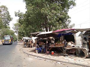 N3 road (Senegal) - Between Thiès and Touba