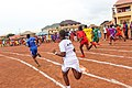 Senior Female Student Athletes as they embark on a 400 meters relay race 01.jpg