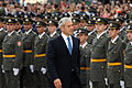 Serbian President Boris Tadic reviews officer cadets.jpg