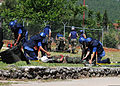 Service members from several European nations remove a mock victim from a simulated mine field June 6, 2012, in Capljina, Bosnia-Herzegovina, as part of a training scenario during Shared Resilience 2012 120606-F-DE018-052.jpg