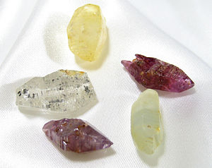 Several corundum crystals.jpg