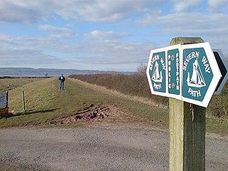 Severn Way - Severn Way at Oldbury-on-Severn