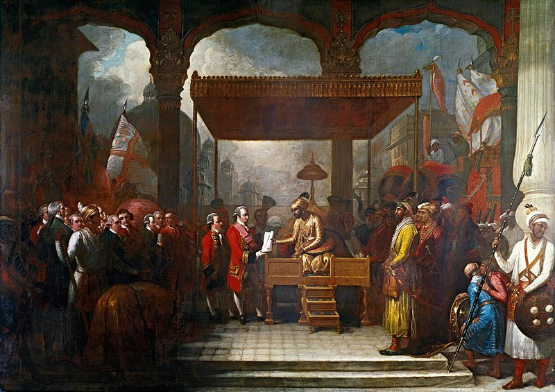 File:Shah 'Alam conveying the grant of the Diwani to Lord Clive.jpg