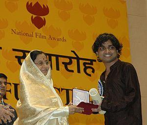 Shajith Koyeri - Shajith Koyeri receiving National Film Award