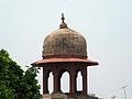 Shalamar Garden July 14 2005-West wall corner minaret on second level.jpg