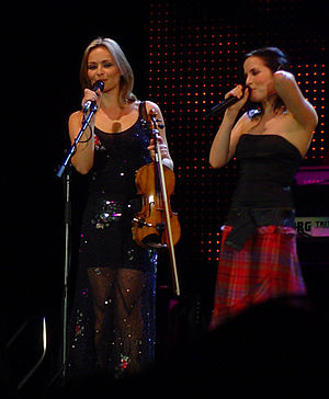 Borrowed Heaven tour - Bandmembers Andrea Corr and Sharon Corr performing at the Hanns-Martin-Schleyer-Halle in Stuttgart