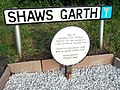 Shaws Garth plaque.JPG