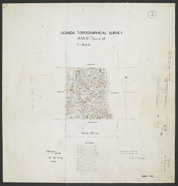 600px sheet south a 36 b   war office ledger.uganda topographical survey. %28woos 13 7 3%29