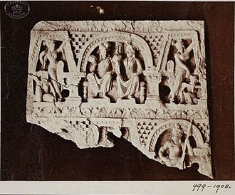 Yaśodharā - Siddharta and wife Yasodhara, Gandhara, Lahore Museum.