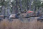 Side view of Australian M1A1 Abrams turret during Exercise Hamel 2015.jpg