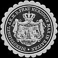 Siegelmarke Dienststiegel J.K.H. der Frau Herzogin Max in Bayern W0313365.jpg