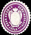Siegelmarke Gemeinderath der Stadt Mährisch Kromau W0318446.jpg