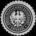 Siegelmarke Königlich Preussisches Katasteramt - Segeberg W0246223.jpg