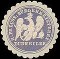 Siegelmarke K.Pr. Bürgermeisterei Dudweiler W0352210.jpg