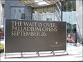 Sign announcing the opening of the Palladium Mall in Worli.jpg