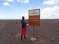 Sign at he entrance to The Desert Museum Loiyanglani.jpg