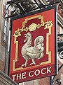 Sign for The Cock, Great Portland Street - Margaret Street, W1 - geograph.org.uk - 1528682.jpg