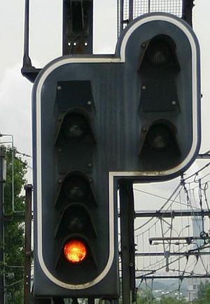 French railway signalling -  warning