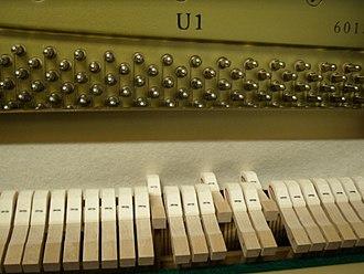 Mute (music) - Yamaha U1 piano mute