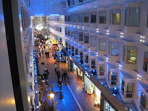 Promenade deck - Interior promenade of the MS Silja Symphony
