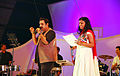 Sithara performing with Shankar Mahadevan.jpg