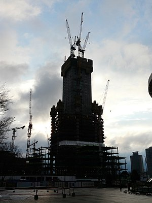 Lotte World Tower - Image: Skyscrper construction in seoul