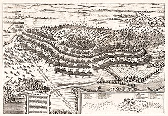 Battle of Breitenfeld (1642) - Contemporary engraving depicting the battle