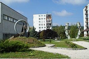 Štefan Osuský - The Štefan Osuský Monument (left) in Brezová pod Bradlom
