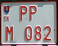 Slovakian license plate for dealers.JPG