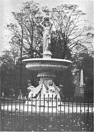 Woodland Cemetery (Cleveland) - The small 1887 fountain.