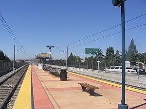 Snell station - Snell Station platform, 2012