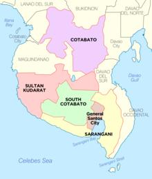 Region 12 Map Philippines Soccsksargen   Wikipedia