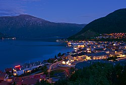 Sogndal by night