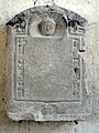 Soissons (02), musée municipal, plaque commémorative de l'érection d'un calvaire au lieu-dit La Croix Plantée.jpg