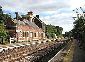 Somerleyton railway station - Image: Somerleyton railway station geograph.org.uk 1505967
