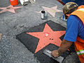 Soon to be Mel Brooks' star on the Walk of Fame, Hollywood.jpg