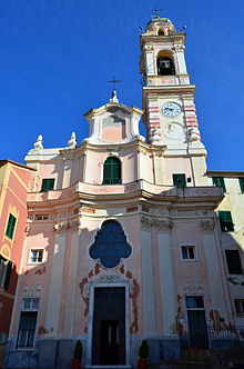 La chiesa parrocchiale di Santa Margherita nel centro di Sori