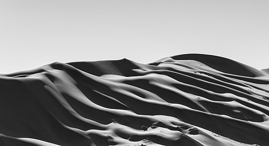 Interesting dune formations in Sossusvlei, Namib-Naukluft National Park, Namibia.
