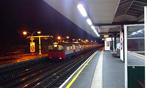 South Ealing tube station - Image: South Ealing tube station at night