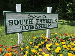 South Fayette Township Welcome Sign