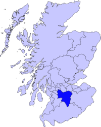 South Lanarkshire'i asend Šotimaal