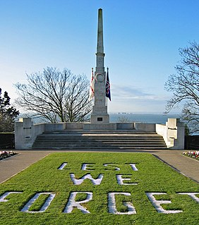 war memorial in Southend-on-Sea, Essex