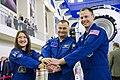 Soyuz MS-12 crew at the Gagarin Cosmonaut Training Center in Star City.jpg