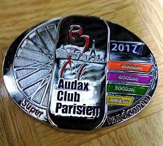 Randonneuring - Super Randonneur medal