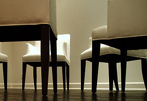 worm's-eye view: chairs